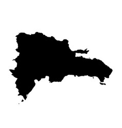map dominican republic isolated vector image