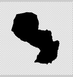 Map paraguay isolated black vector