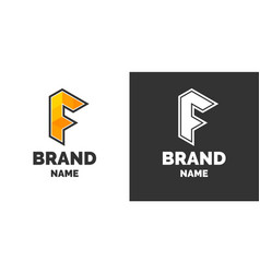 modern logo and sign the letter f vector image