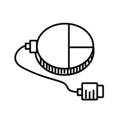 mouse connection usb outline vector image
