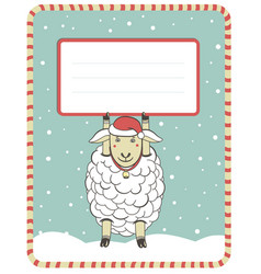 New year with cute sheep vector