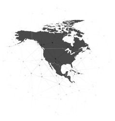 North america map background for communication vector