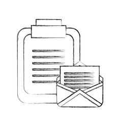 office clipboard email message communication vector image