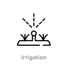 Outline irrigation icon isolated black simple vector