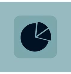 Pale blue diagram icon vector
