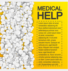 Pharmaceutical medical help poster vector