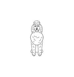 poodlev cartoon dog icon vector image vector image