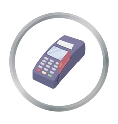 POS terminal icon in cartoon style isolated on vector