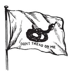 Rattlesnake flag of south carolina 1895 vintage vector