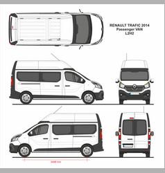 Renault trafic passenger van l2h2 2014 vector