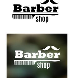 Retro barber shop emblem vector