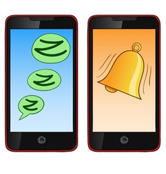 Ringing cell phone vector