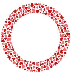 Round hearts frame vector