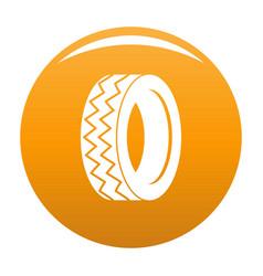 round tire icon orange vector image