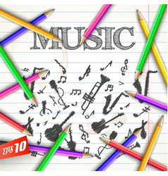 School musical background vector