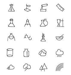 Science hand drawn doodle icons 6 vector