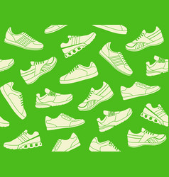 seamless background of sports shoes vector image