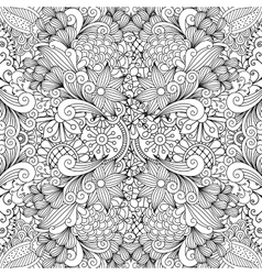 Seamless full frame kaleidoscope decoration vector