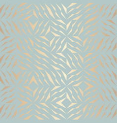 seamless geometric golden element pattern vector image