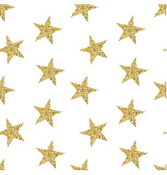 Seamless pattern with golden stars glittering vector
