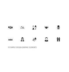 set of 10 editable business icons includes vector image