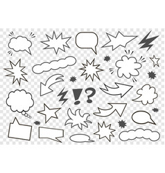 set of speech bubbles set of blank template in vector image