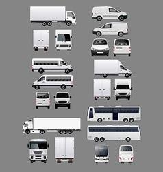 Set of Transportation Vehicles 1 vector image