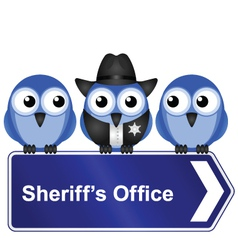 SHERIFFS OFFICE SIGN vector image