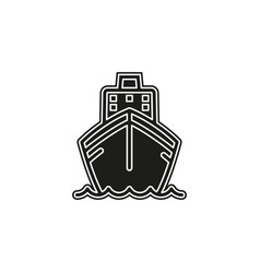 ship icon cruise tour delivery concept vector image