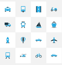Shipment colorful icons set collection of way vector