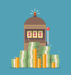 slot machine jackpot with a lot of money vector image