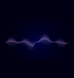 sound abstract wave in blue on a dark background vector image