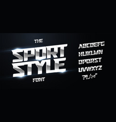 sport style alphabet modern dynamic bold font vector image