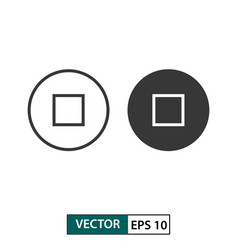 stop button icon set isolated on white eps 10 vector image