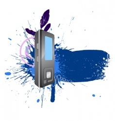 text blot watercolour vector image