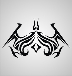 Tribal Bat Tattoo vector image