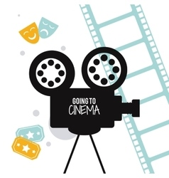 Video camera movie film cinema icon vector