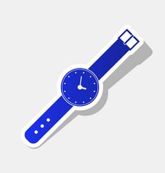 Watch sign new year bluish vector