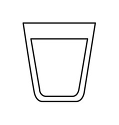 water glass isolated icon vector image