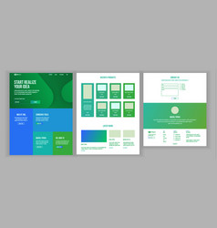 website design template business landing vector image