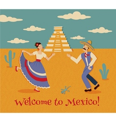 welcome to mexico vector image