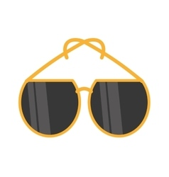 Yellow sunglasses fashionable beach vector