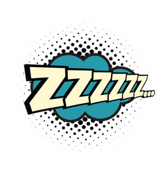 Zzz comic word vector
