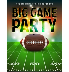 American football big game party vector