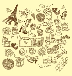 doodle france vector image vector image