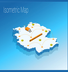 map germany isometric concept vector image vector image
