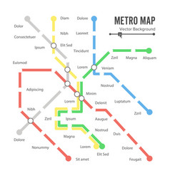 metro map city transportation scheme vector image vector image