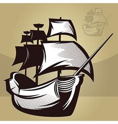 Old world ship vector