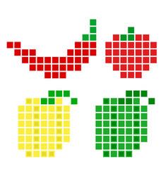 pepper vegetable pi set vector image