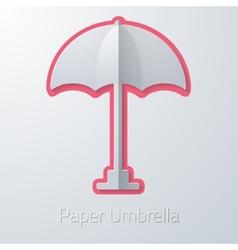Summer Travel Paper Umbrella flat icon vector image vector image